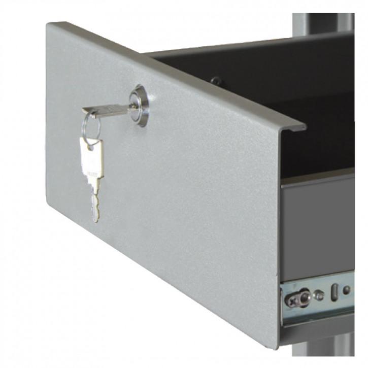 Lade, Schublade - auf OBERSTER Position - versperrbar, 180 mm hoch