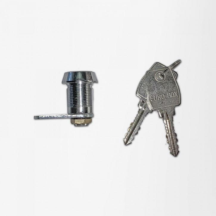 EURO-BOX Zylinderschloss, Zylinder-Hebelschloss für Innentresore, Türverkleidungsbleche, Schränke, Schubladen, Spinte