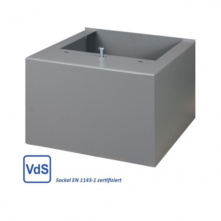 Stahlsockel (VdS zertifiziert) für Wertheim AG, BG, CP, Höhe frei wählbar 65-800mm