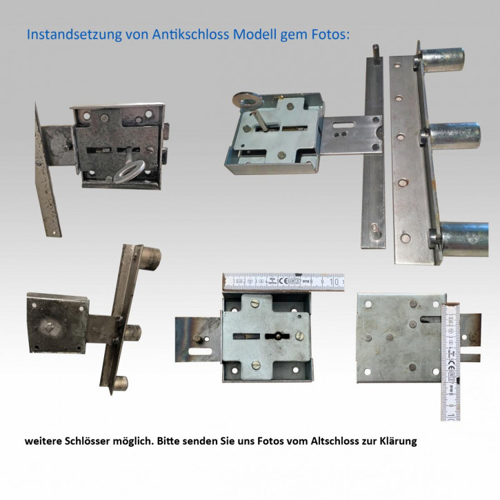 Instandsetzung Antikschloss (80 x 80 / 60 mm), Wartung, neue Schliessung, inkl. 2 neuen Schlüsseln