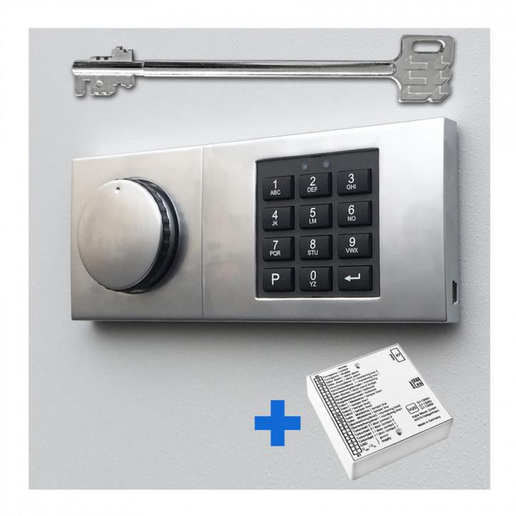 Kaba Mauer Combi B 30 Elektronik, Notschlüssel + Alarmbox
