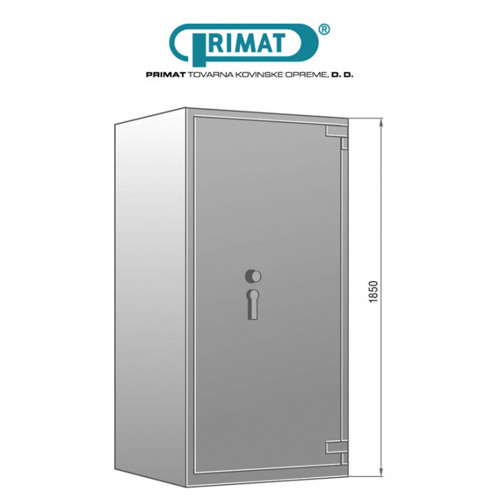 PRIMAT STARPRIM 2535 Wertschutzschrank Tresor Klasse II (2) nach EN 1143-1