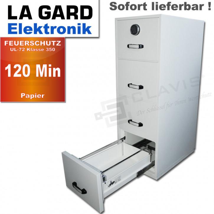 Vertikalschrank 120 Min. Feuerschutz Aktenschrank für Hängeregister 470kg Elektronik La Gard