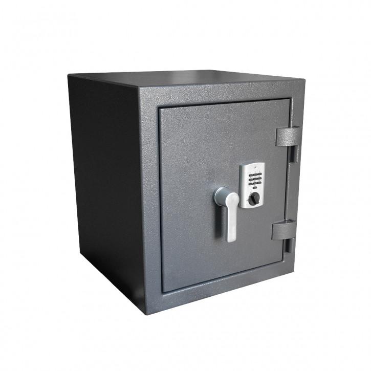 All in One Wertschutzschrank VdS III EN 1143-1, Elektronikschloss, Notschlüssel-Revision, 30 Min. Feuerschutz, 300 kg