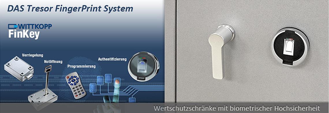 Tresore mit biometrischem Fingerprint Schloss