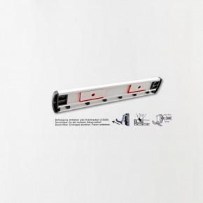 6er Schlüsselhakenleiste mit Klebehaltern und variablen Anschraubpunkten / 195 mm Schlüsselleiste mit 6 Schlüsselhaken